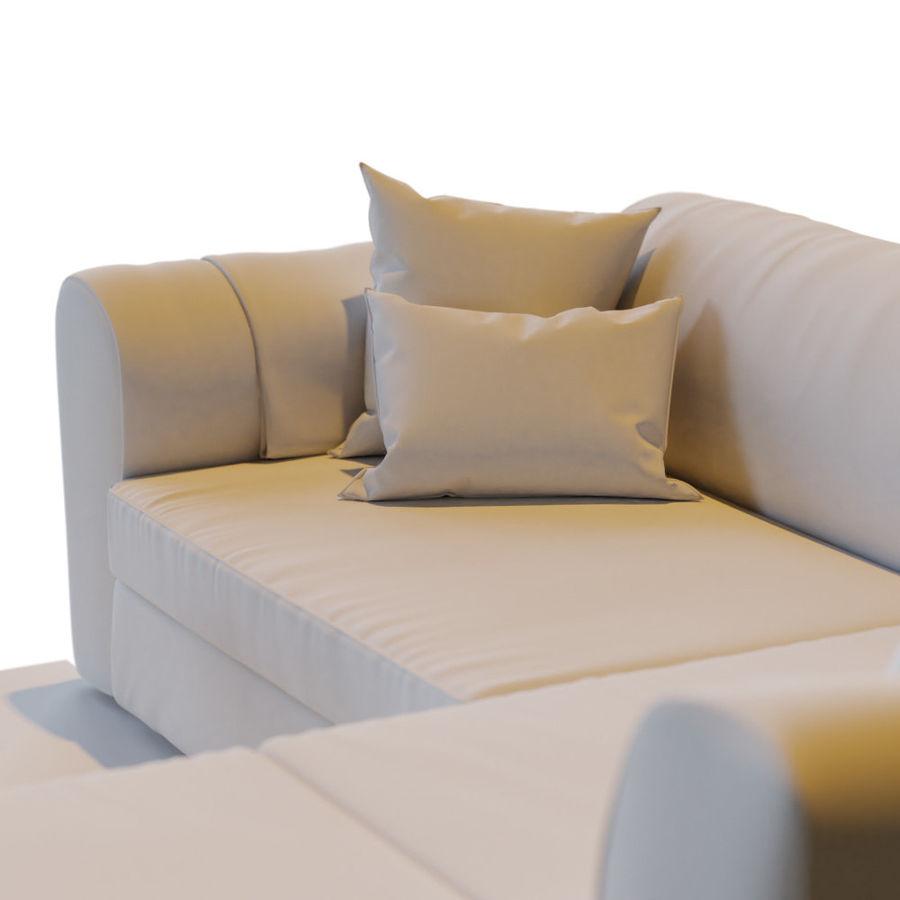 Zestaw do salonu z sofą royalty-free 3d model - Preview no. 19