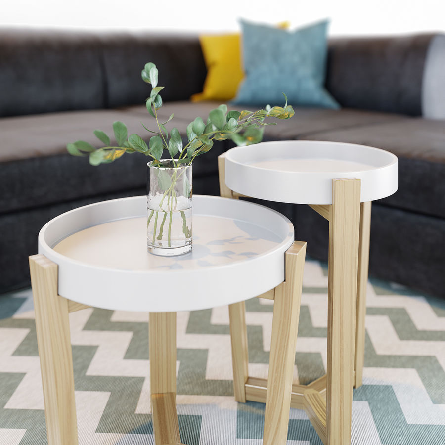 Zestaw do salonu z sofą royalty-free 3d model - Preview no. 5