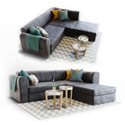 Sofa Livingroom Set 3d model