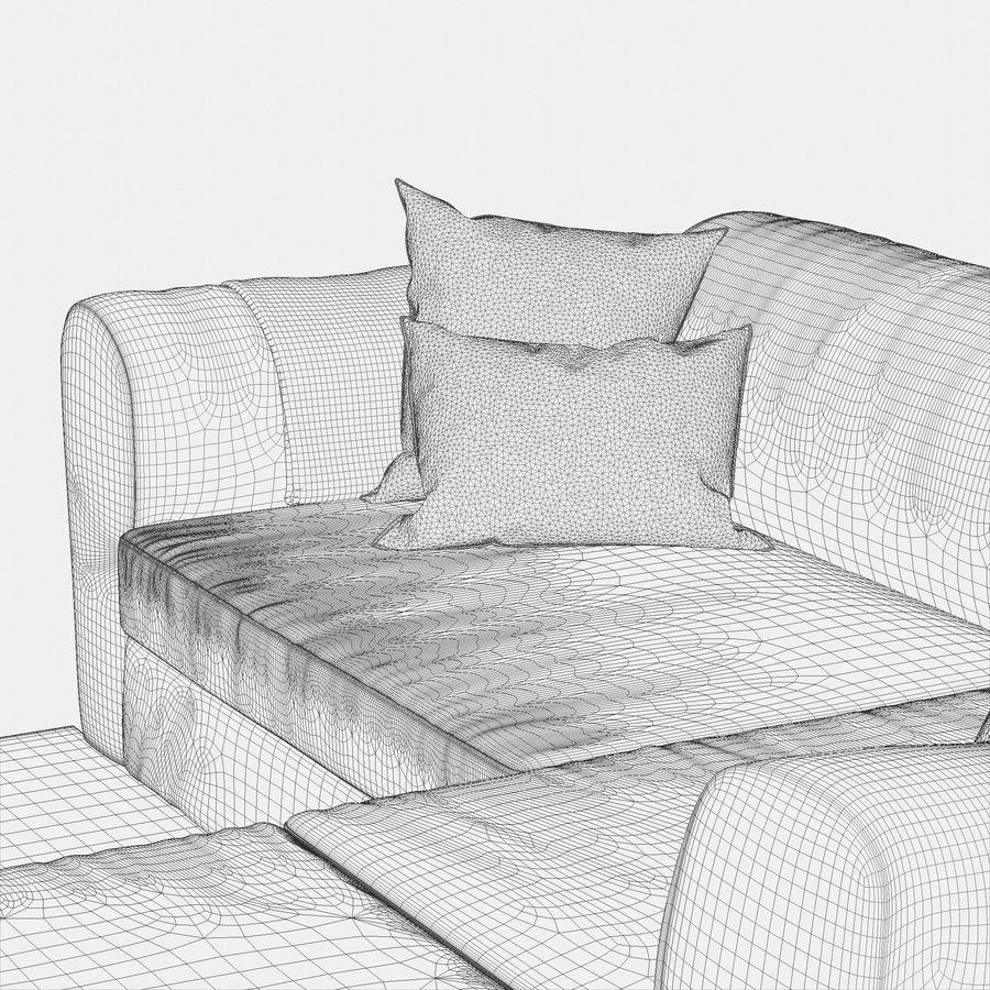 Zestaw do salonu z sofą royalty-free 3d model - Preview no. 20