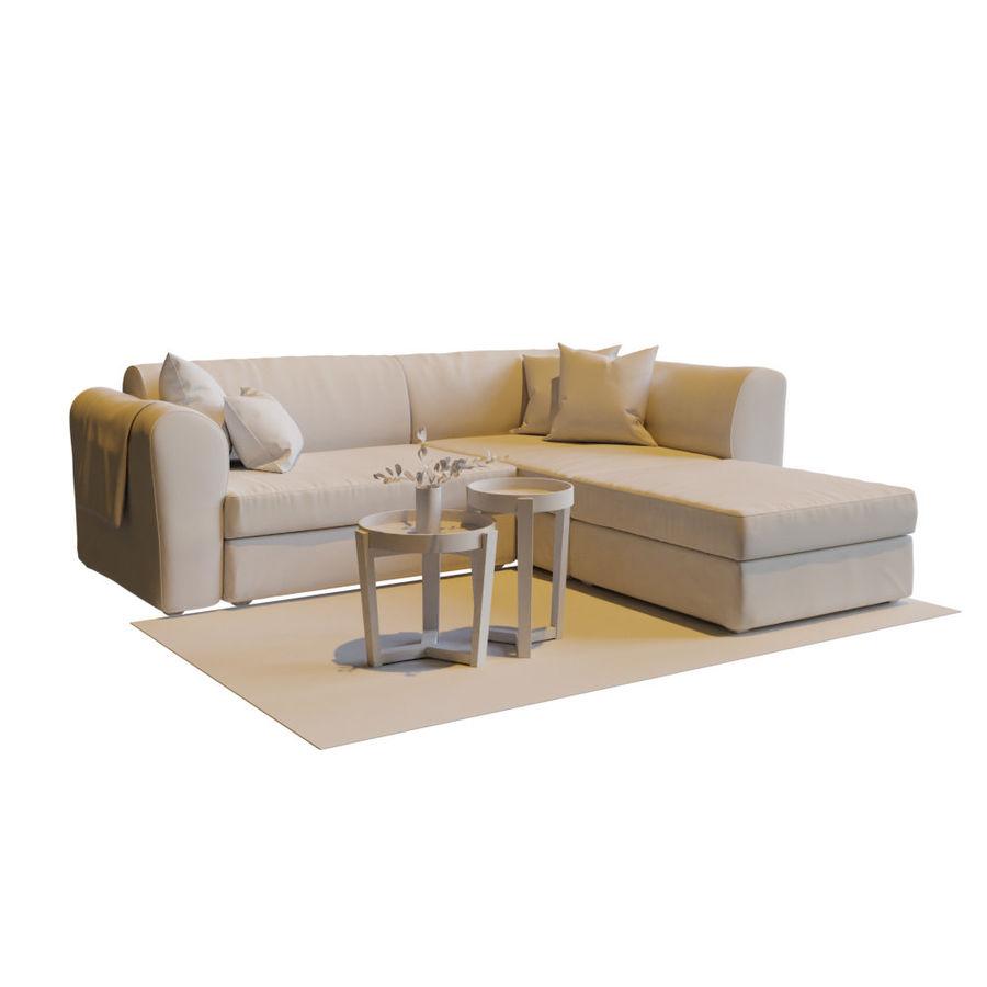 Zestaw do salonu z sofą royalty-free 3d model - Preview no. 9
