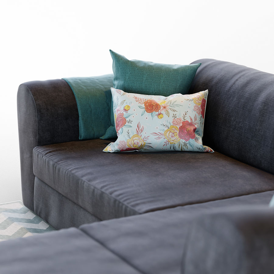 Zestaw do salonu z sofą royalty-free 3d model - Preview no. 7