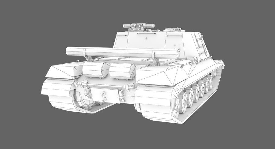 自行火炮对象268 royalty-free 3d model - Preview no. 13