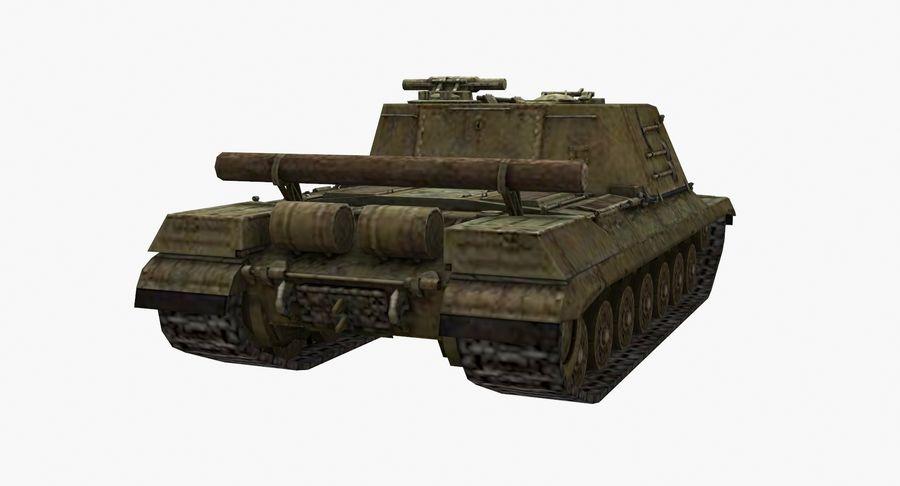自行火炮对象268 royalty-free 3d model - Preview no. 7
