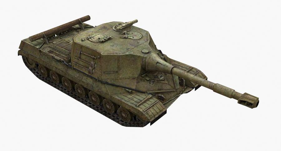自行火炮对象268 royalty-free 3d model - Preview no. 5