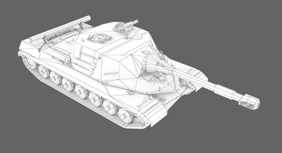 自行火炮对象268 royalty-free 3d model - Preview no. 11