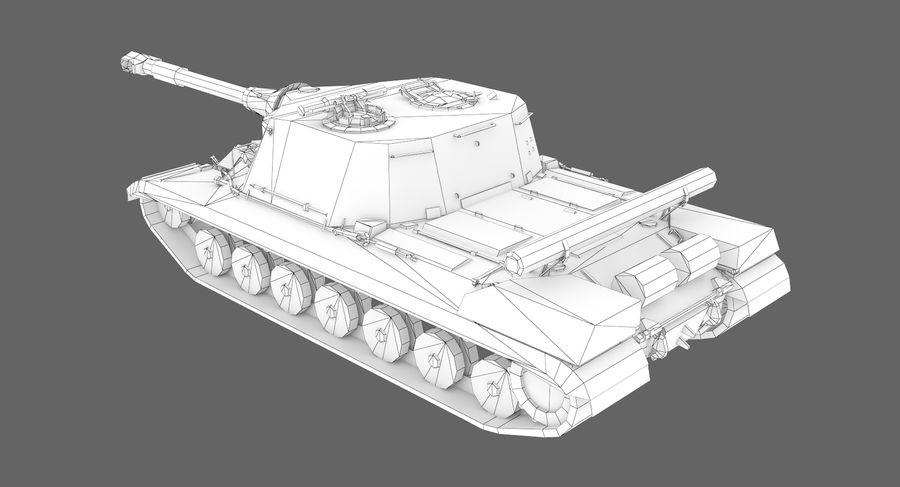 自行火炮对象268 royalty-free 3d model - Preview no. 9