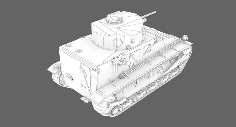 Танк Виккерс Средний Марк I royalty-free 3d model - Preview no. 10