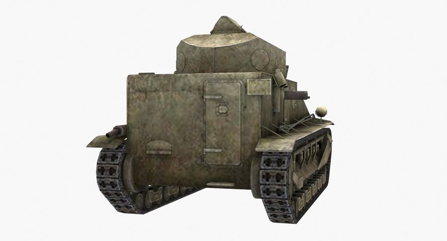 Tank Vickers中号Mark I royalty-free 3d model - Preview no. 7