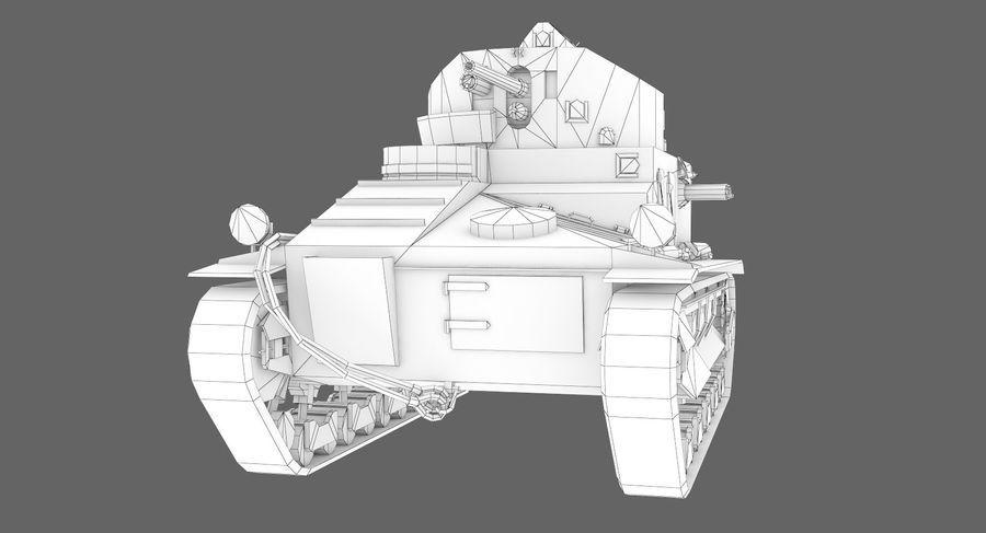 Танк Виккерс Средний Марк I royalty-free 3d model - Preview no. 12