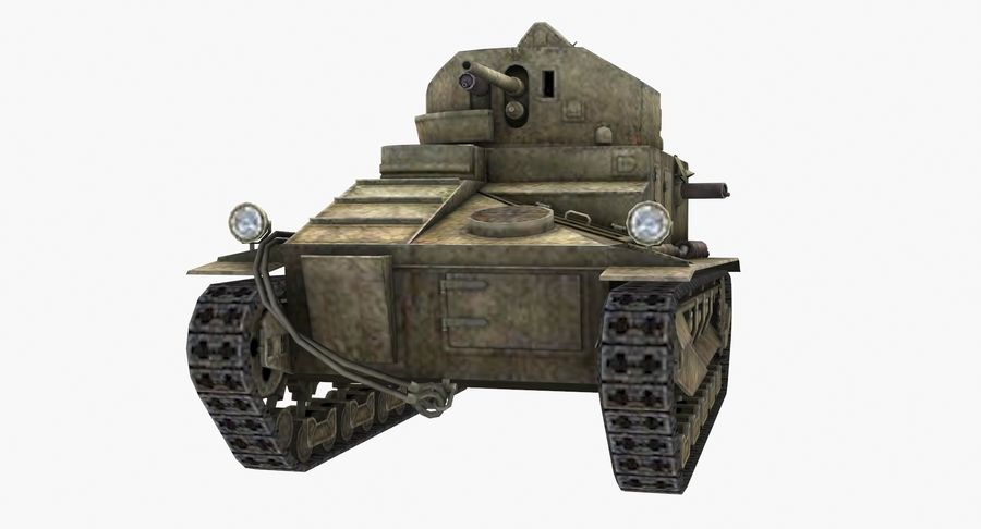 Tank Vickers中号Mark I royalty-free 3d model - Preview no. 6