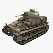 Panzer Vickers Medium Mark I 3d model