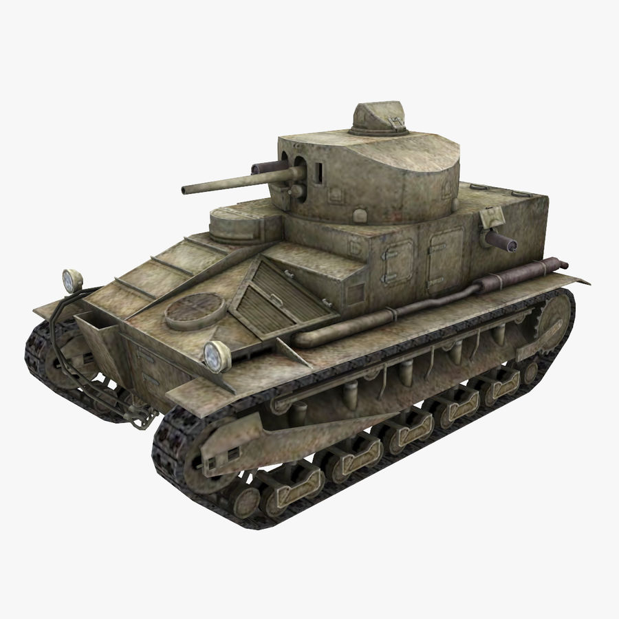 Tank Vickers中号Mark I royalty-free 3d model - Preview no. 1