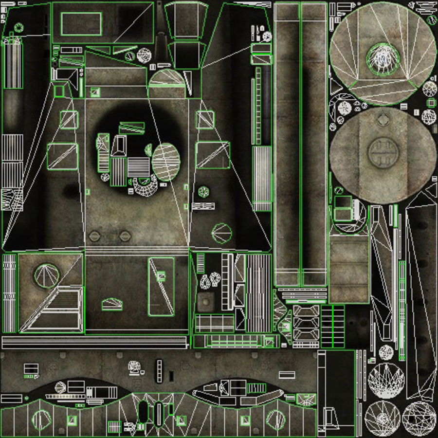Танк Виккерс Средний Марк I royalty-free 3d model - Preview no. 17