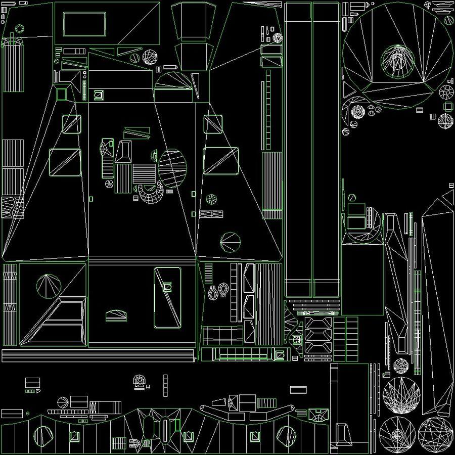 Танк Виккерс Средний Марк I royalty-free 3d model - Preview no. 15
