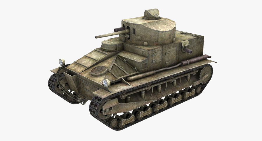 Tank Vickers中号Mark I royalty-free 3d model - Preview no. 2