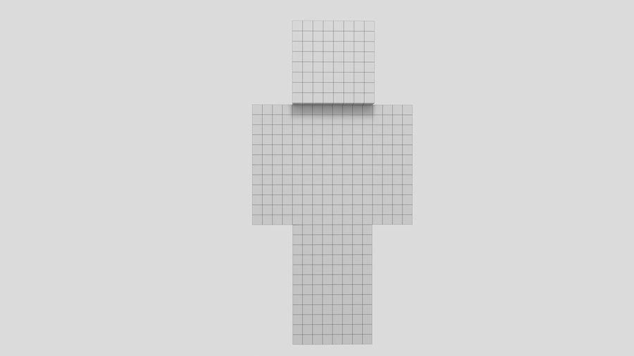 Steve Carácter de Minecraft royalty-free modelo 3d - Preview no. 6