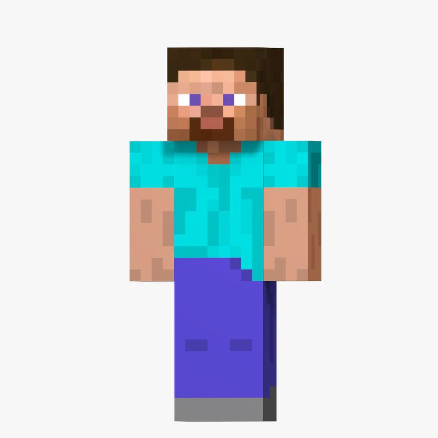 Steve Carácter de Minecraft royalty-free modelo 3d - Preview no. 1