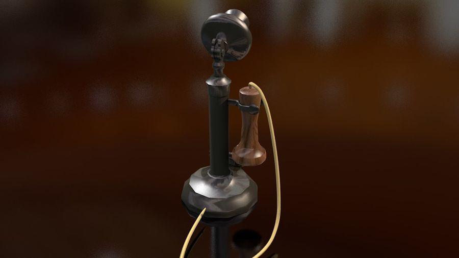 Weinlese-altes Kerzenhalter-Telefon royalty-free 3d model - Preview no. 11