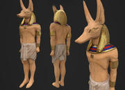 Estatua de Anubis modelo 3d