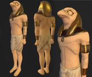 Estatua egipcia de Horus modelo 3d