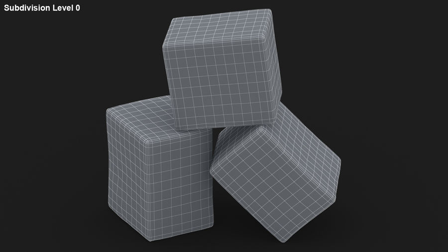 Sugar Cube royalty-free 3d model - Preview no. 21