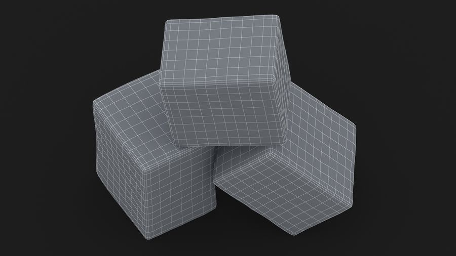 Sugar Cube royalty-free 3d model - Preview no. 19