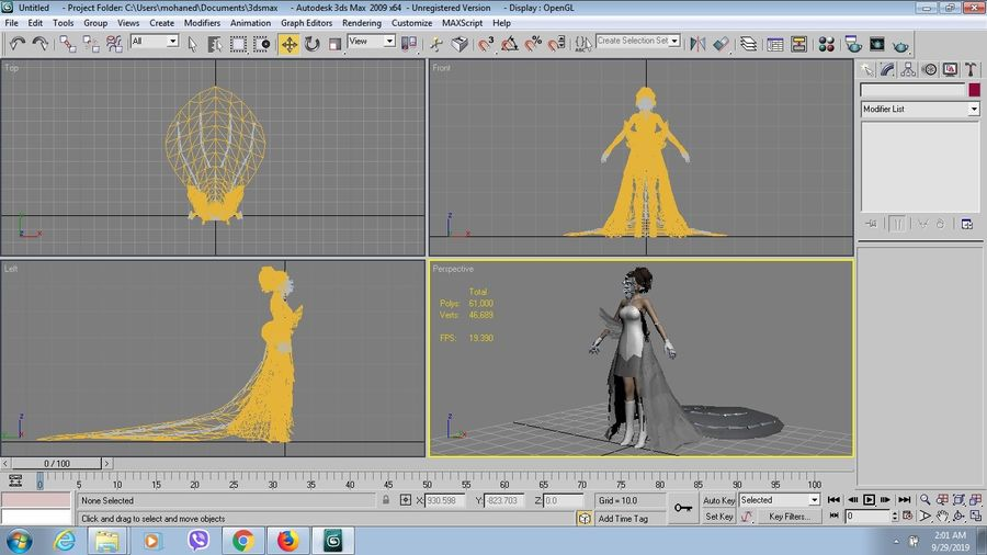 Yuna Hochzeit royalty-free 3d model - Preview no. 9