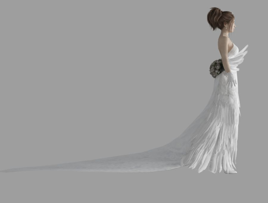 Yuna Hochzeit royalty-free 3d model - Preview no. 4