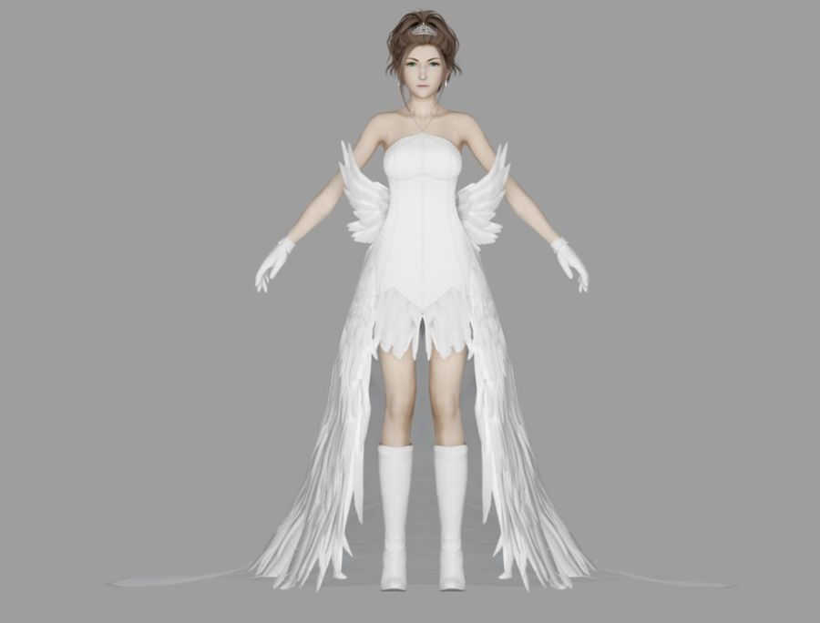 Yuna Hochzeit royalty-free 3d model - Preview no. 2