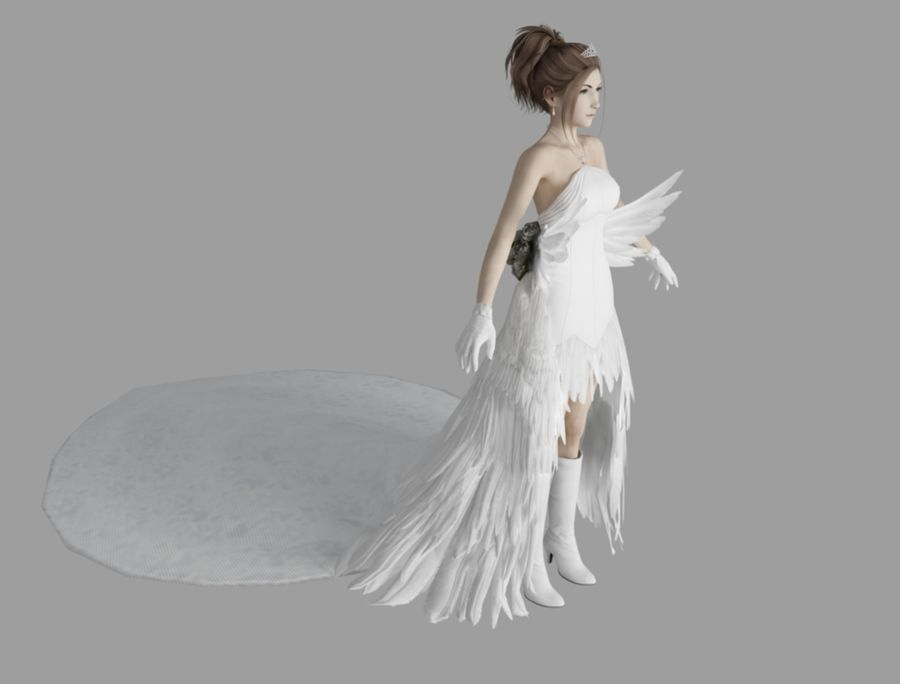 Yuna Hochzeit royalty-free 3d model - Preview no. 3
