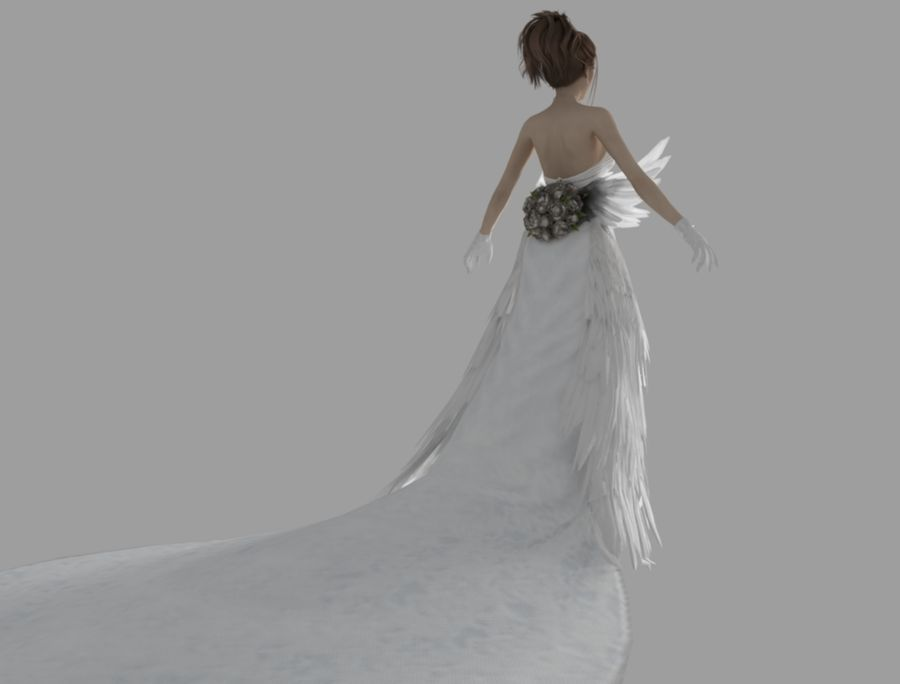 Yuna Hochzeit royalty-free 3d model - Preview no. 5