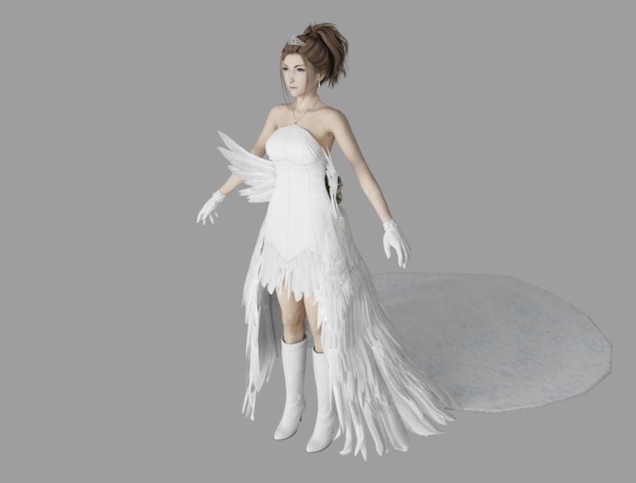 юна свадьба royalty-free 3d model - Preview no. 1