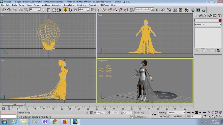 юна свадьба royalty-free 3d model - Preview no. 9