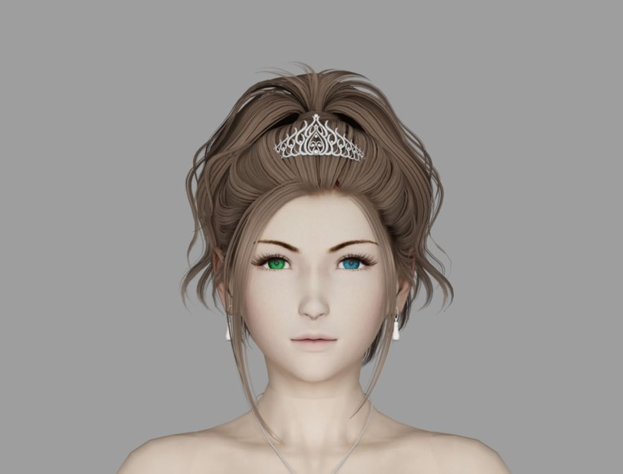 Yuna Hochzeit royalty-free 3d model - Preview no. 6