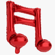 Balon foliowy Uwaga 1 czerwony 3d model