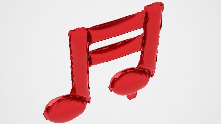 Balon foliowy Uwaga 1 czerwony royalty-free 3d model - Preview no. 11