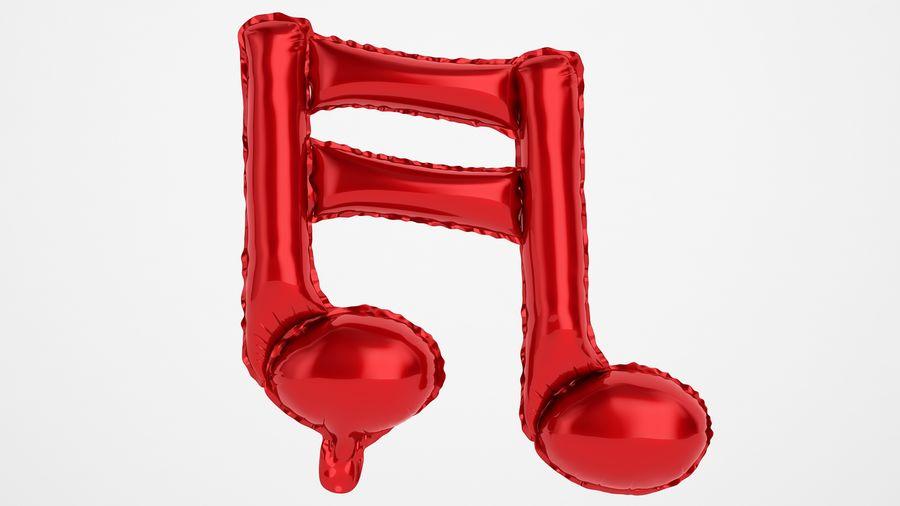 Balon foliowy Uwaga 1 czerwony royalty-free 3d model - Preview no. 5