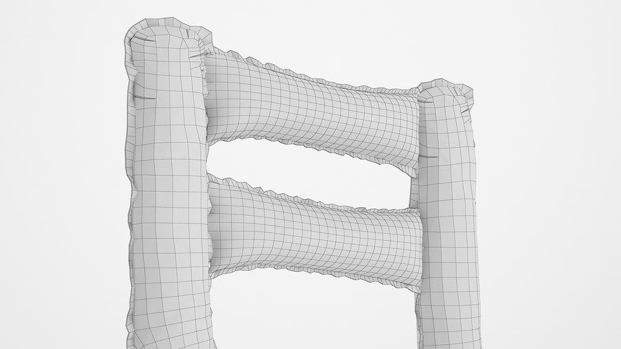 Balon foliowy Uwaga 1 srebrny royalty-free 3d model - Preview no. 16