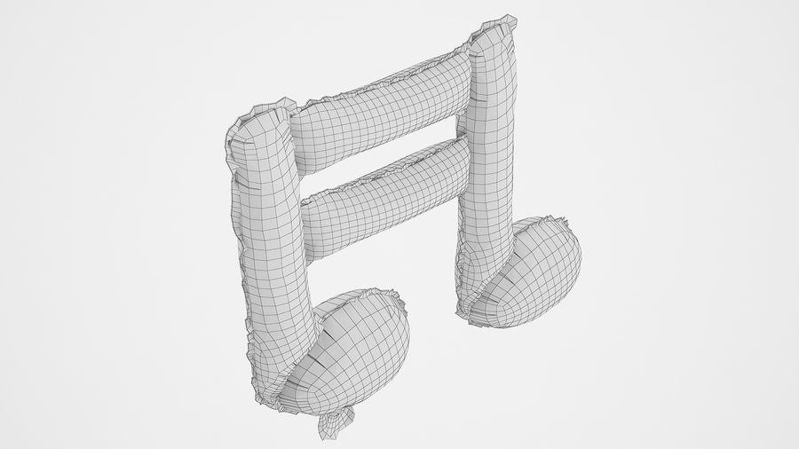Balon foliowy Uwaga 1 srebrny royalty-free 3d model - Preview no. 8