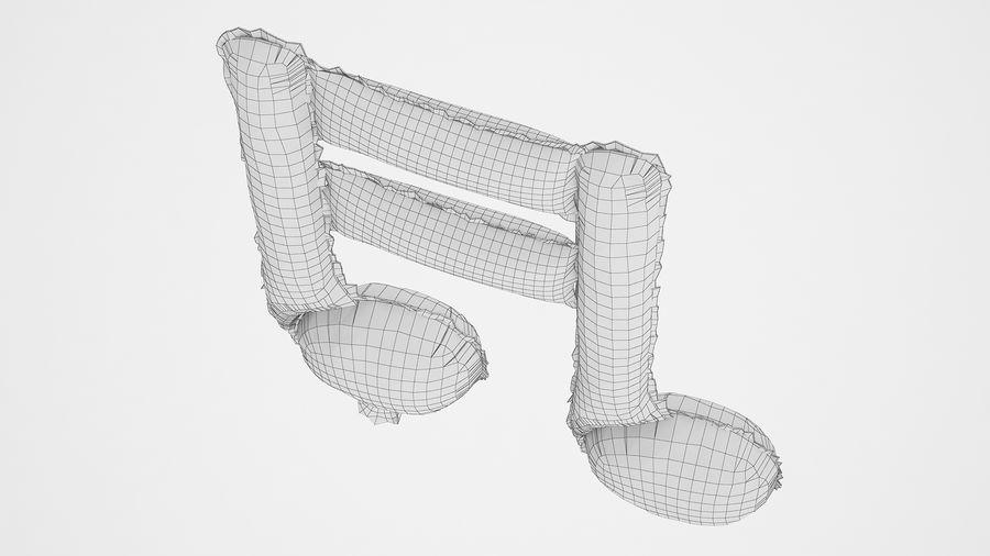 Balon foliowy Uwaga 1 srebrny royalty-free 3d model - Preview no. 10