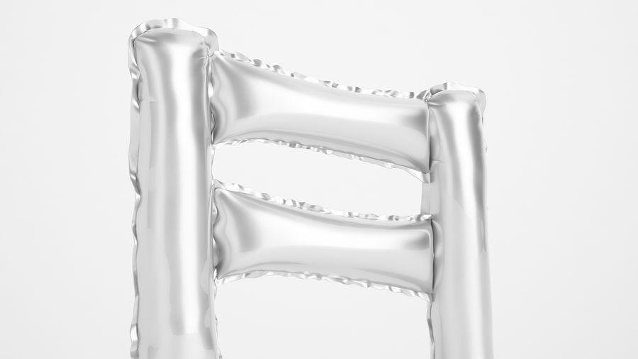 Balon foliowy Uwaga 1 srebrny royalty-free 3d model - Preview no. 15