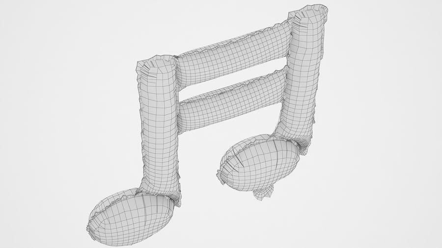 Balon foliowy Uwaga 1 srebrny royalty-free 3d model - Preview no. 12
