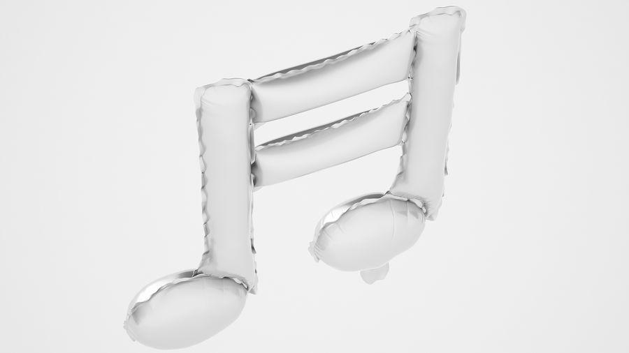 Balon foliowy Uwaga 1 srebrny royalty-free 3d model - Preview no. 11