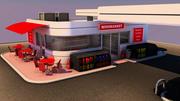 Gas Station Scene 3d model