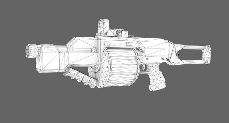 1型科幻武器 royalty-free 3d model - Preview no. 7