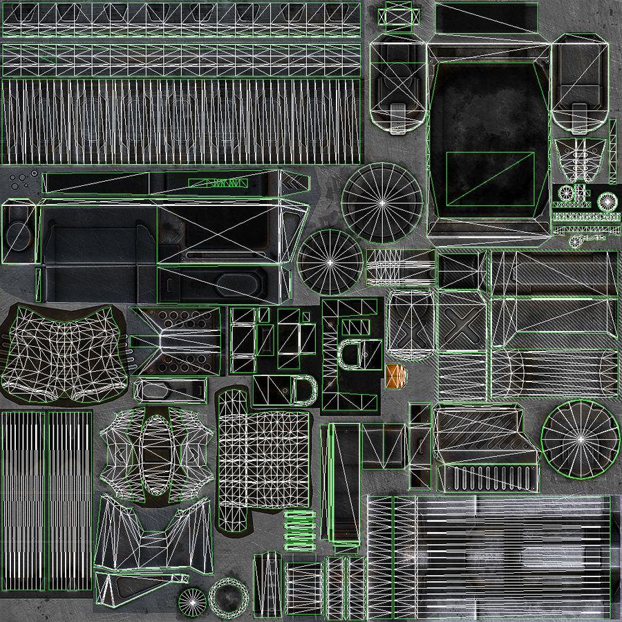 1型科幻武器 royalty-free 3d model - Preview no. 14