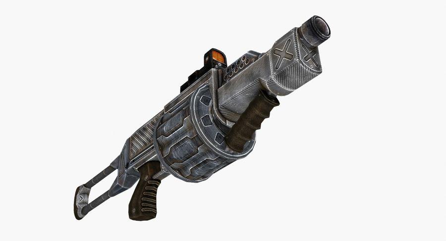 1型科幻武器 royalty-free 3d model - Preview no. 6