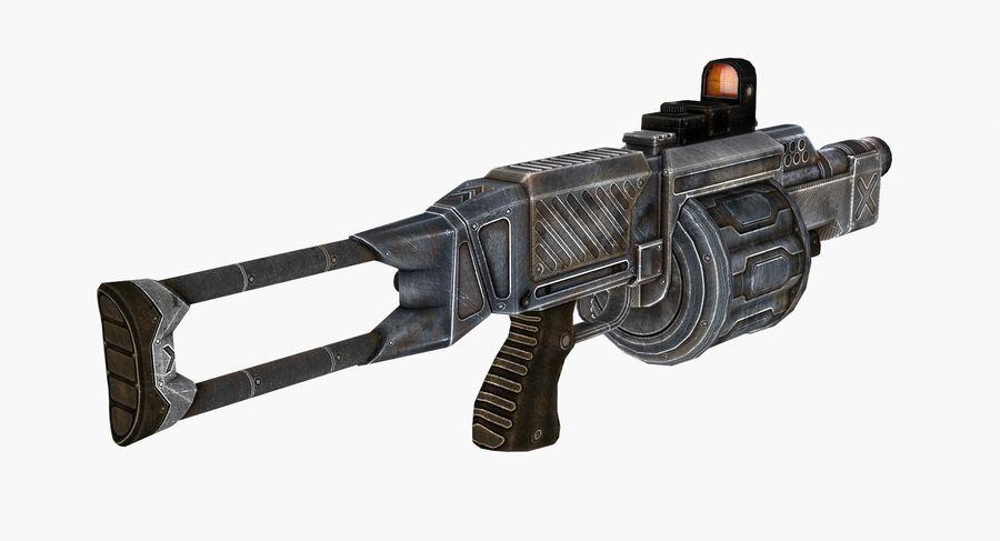 1型科幻武器 royalty-free 3d model - Preview no. 5