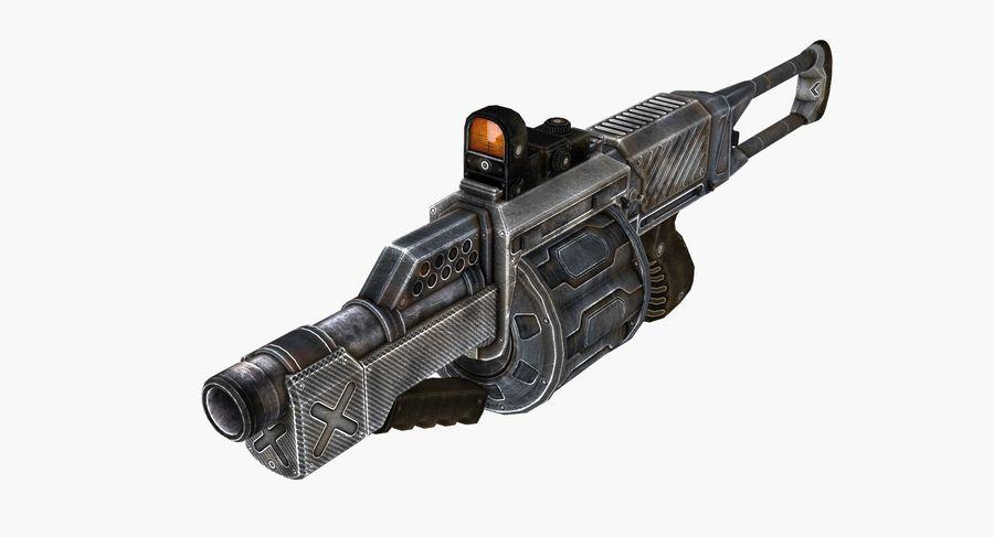 1型科幻武器 royalty-free 3d model - Preview no. 4